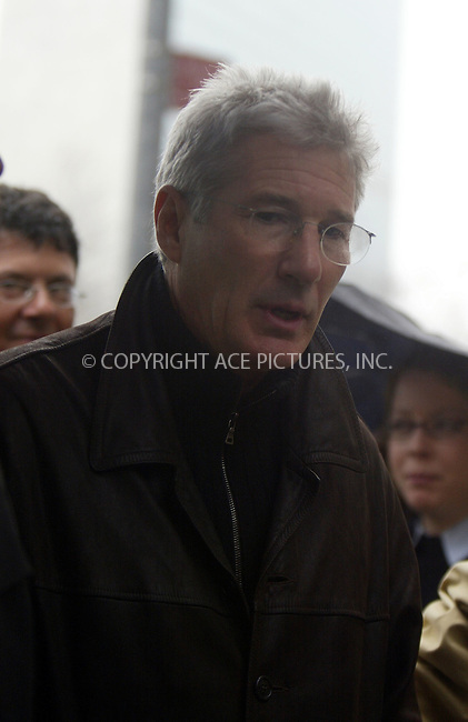 Richard Gere. New York, April 13, 2004. Please byline: ACE Pictures.   ..*PAY-PER-USE*      ....IMPORTANT: Please note that our old trade name, NEW YORK PHOTO PRESS (NYPP), is replaced by our new name, ACE PICTURES. New York Photo Press and ACE Pictures are owned by All Celebrity Entertainment, Inc.......All Celebrity Entertainment, Inc:  ..contact: Alecsey Boldeskul (646) 267-6913 ..Philip Vaughan (646) 769-0430..e-mail: info@nyphotopress.com