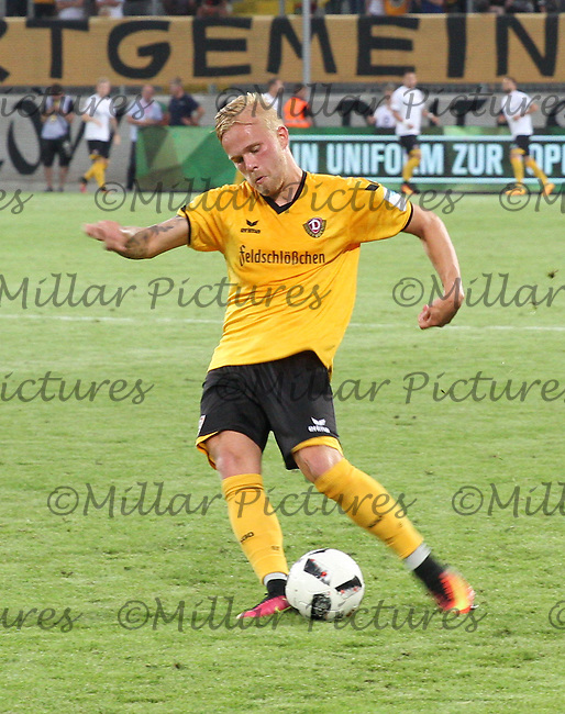 Marcel Hilßner in the Dynamo Dresden v Everton match in the Bundeswehr Karriere Cup Dresden 2016 played at the DDV Stadion, Dresden on 29.7.16.