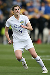 04 December 2011: Duke's Kelly Cobb. The Stanford University Cardinal defeated the Duke University Blue Devils 1-0 at KSU Soccer Stadium in Kennesaw, Georgia in the NCAA Division I Women's Soccer College Cup Final.