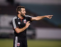 D.C. United head coach Ben Olsen yells to his team during a third round match in the US Open Cup at City Stadium in Richmond, VA.  D.C. United advanced on penalty kicks after tying the Richmond Kickers, 0-0.