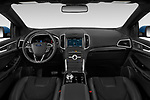 Stock photo of straight dashboard view of a 2019 Ford Edge ST 5 Door SUV
