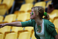 A Turbos fan. Air NZ Cup - Wellington Lions v Manawatu Turbos at Westpac Stadium, Wellington, New Zealand. Saturday 3 October 2009. Photo: Dave Lintott / lintottphoto.co.nz