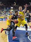 14.04.2018, EWE Arena, Oldenburg, GER, BBL, EWE Baskets Oldenburg vs s.Oliver W&uuml;rzburg, im Bild<br /> <br /> Rasid MAHALBASIC (EWE Baskets Oldenburg #24)<br /> Abdul GADDY (s.Oliver W&uuml;rzburg #3 )<br /> Foto &copy; nordphoto / Rojahn