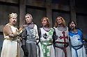 Monty Python's Spamalot a musical based on the film Monty Python and the Holy Grail. Book and Lyrics by Eric Idle. With  Tim Curry as King Arthur,Tom Goodman-Hill as Sir Lancelot, Robert Hands as Sir Robin,Christopher Sieber as Sir Galahad,Tony Timberlake as Sir Bedevere, .  Opens at the Palace  Theatre on 16/10/06 CREDIT Geraint Lewis