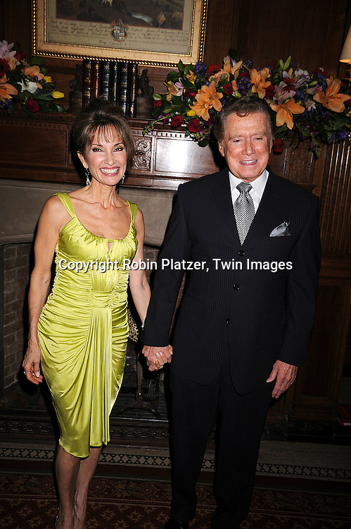Susan Lucci  and Regis Philbin.at The American Federation of Television and Radio Artists Dinner honoring jounalist Sam Donaldson, actress Susan Lucci and singer Maureen McGovern with The AMEES Awards which stands for The Aftra Media and Entertainment Excellence Awards. The event was on .January 28, 2008 at Gotham Hall in New York City. ..Robin Platzer, Twin Images