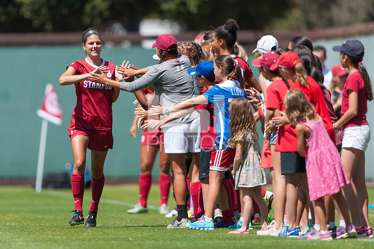 Stanford, CA - September 4, 2016:  Maddie Bauer during the Stanford vs Marquette Women's soccer match in Stanford, California.  The Cardinal defeated the Golden Eagles 3-0.