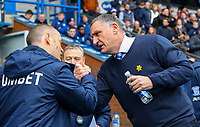 Preston North End manager Alex Neil is greeted by Blackburn Rovers manager Tony Mowbray<br /> <br /> Photographer Alex Dodd/CameraSport<br /> <br /> The EFL Sky Bet Championship - Blackburn Rovers v Preston North End - Saturday 9th March 2019 - Ewood Park - Blackburn<br /> <br /> World Copyright © 2019 CameraSport. All rights reserved. 43 Linden Ave. Countesthorpe. Leicester. England. LE8 5PG - Tel: +44 (0) 116 277 4147 - admin@camerasport.com - www.camerasport.com