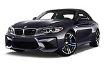 Stock pictures of low aggressive front three quarter view of a 2017 BMW M2 Base 2 Door Coupe