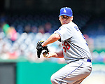 25 April 2010: Los Angeles Dodgers' pitcher Chad Billingsley on the mound against the Washington Nationals at Nationals Park in Washington, DC. The Nationals shut out the Dodgers 1-0 to take the rubber match of their 3-game series. Mandatory Credit: Ed Wolfstein Photo