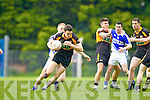Danny Wren Shannon Rangers in action against Paul O'Donoghue Stacks in the First Round of the Kerry Senior Football Championship at O'Rahilly Park Ballylongford on Sunday.