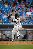 West Michigan Whitecaps shortstop Isaac Paredes (11) at bat during the second game of a doubleheader against the Lake County Captains on August 6, 2017 at Classic Park in Eastlake, Ohio.  West Michigan defeated Lake County 9-0.  (Mike Janes/Four Seam Images)