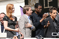 Jessica Chastain, Martin Short, Chris Rock and Ben Stiller attending the Madagaskar III photocall at Carlton hotel during Cannes International Film Festival in Cannes, France, 17.05.2012..Credit: Timm/face to face /MediaPunch Inc. ***FOR USA ONLY***