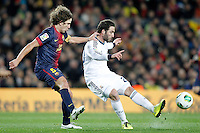 FC Barcelona's Carles Puyol (l) and Real Madrid's Gonzalo Higuain during Copa del Rey - King's Cup semifinal second match.February 26,2013. (ALTERPHOTOS/Acero) /Nortephoto