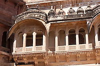Mehrangarh Fort 19th Century The Treasury Building, Daulatkhana,  at Jodhpur in Rajasthan, Northern India