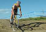 October 17, 2015 - Boulder, Colorado, U.S. - Elite cyclist, Meredith Miller, in action during the U.S. Open of Cyclocross, Valmont Bike Park, Boulder, Colorado.
