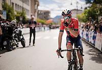 Vincenzo Nibali (ITA/Bahrain-Merida) at the race start of stage 6 in Cassino<br /> <br /> Stage 6: Cassino to San Giovanni Rotondo (233km)<br /> 102nd Giro d'Italia 2019<br /> <br /> ©kramon