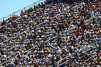 Jul. 26, 2014; Sonoma, CA, USA; NHRA fans in the grandstands during qualifying for the Sonoma Nationals at Sonoma Raceway. Mandatory Credit: Mark J. Rebilas-