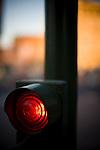 Red traffic light, Seville, Spain