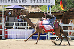 Matt Rogers, of Burlingame, Ca. races during the media challenge portion of the 51st Annual Virginia City International Camel Races in Virginia City, Nev. on Sept. 10, 2010..Photo by Cathleen Allison