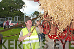 Bobby Stack, from Moyvane was busy at the trashing machine at the vintage rally on Sunday..