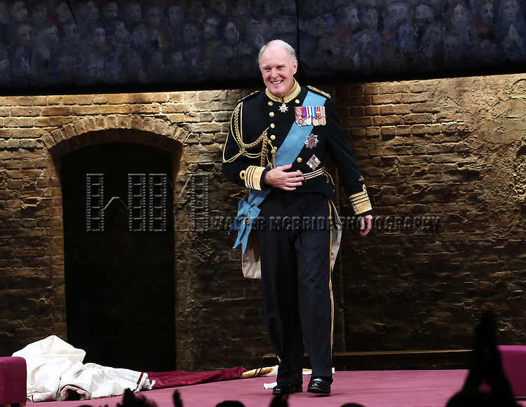 Tim Pigott-Smith during the Broadway Opening Night performance curtain call bows for 'King Charles III' at the Music Box Theatre on November 1, 2015 in New York City.
