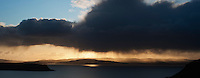 Evening rain showers over Loch Snizort, Uig, Isle of Skye, Scotland