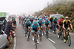 The peloton in action during Stage 15 of the La Vuelta 2018, running 178.2km from Ribera de Arriba to Lagos de Covadonga, Spain. 9th September 2018.               Picture: Unipublic/Photogomezsport | Cyclefile<br /> <br /> <br /> All photos usage must carry mandatory copyright credit (&copy; Cyclefile | Unipublic/Photogomezsport)
