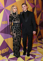 BEVERLY HILLS, CA - JANUARY 7: Paris Hilton, Chris Zylka at the HBO Golden Globes After Party at the Beverly Hilton in Beverly Hills, California on January 7, 2018. <br /> CAP/MPI/FS<br /> &copy;FS/MPI/Capital Pictures