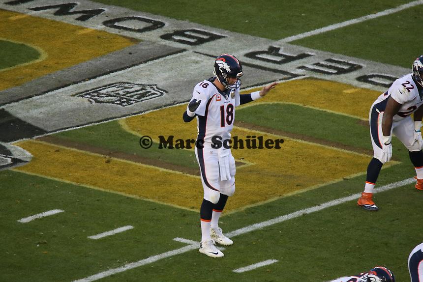 QB Peyton Manning (Broncos) - Super Bowl 50: Carolina Panthers vs. Denver Broncos