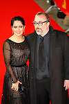 "Actress SALMA HAYEK and director ALEX DE LA IGLESIA arrives for the screening of the film ""As Luck Would Have It"" during the 62nd Berlin International Film Festival Berlinale."