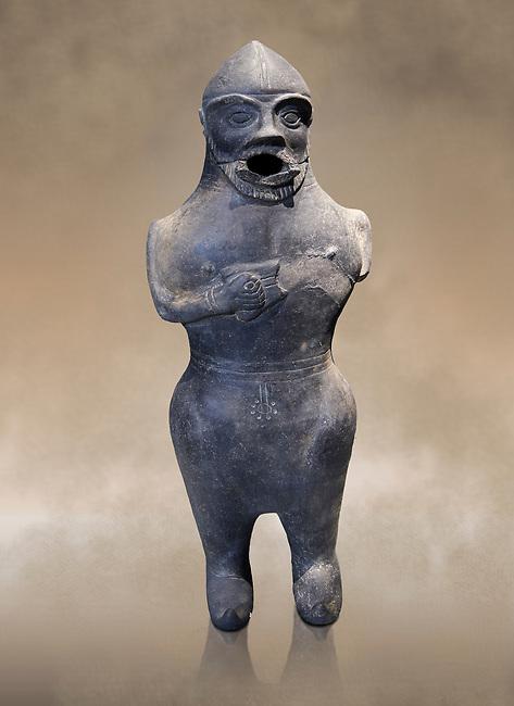 Anthropomorphic Hittite jug in terra cotta from the Hittite Period. Adana Archaeology Museum, Turkey.