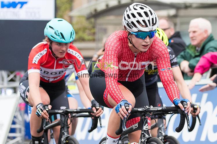 Picture by Alex Whitehead/SWpix.com - 23/05/2017 - Cycling - Tour Series Round 7, Motherwell - Matrix Fitness Grand Prix - Team Breeze's Manon Lloyd.