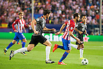 Atletico de Madrid's player Juanfran Torres and Bayern Munich's player Xavi Alonso and Thiago Alcantara during match of UEFA Champions League at Vicente Calderon Stadium in Madrid. September 28, Spain. 2016. (ALTERPHOTOS/BorjaB.Hojas)