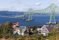 Astoria, Oregon & the Astoria-Megler Bridge over the Columbia River to Washington State