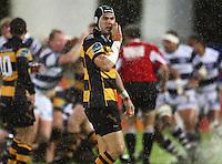 Taranaki second five Jayden Hayward calls a move. Air New Zealand Cup rugby match - Taranaki v Auckland at Yarrows Stadium, New Plymouth, New Zealand. Friday 9 October 2009. Photo: Dave Lintott / lintottphoto.co.nz