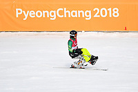 DH training / Sam Tait<br /> PyeongChang 2018 Paralympic Games<br /> Australian Paralympic Committee<br /> PyeongChang South Korea<br /> Wednesday March 7th 2018<br /> &copy; Sport the library / Jeff Crow