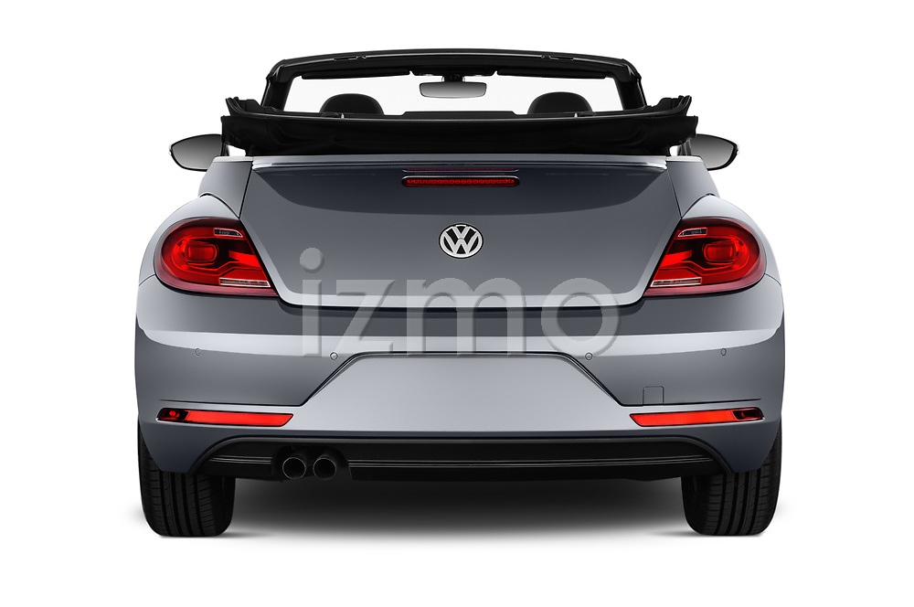 Straight rear view of 2017 Volkswagen Beetle Design 2 Door Convertible Rear View  stock images