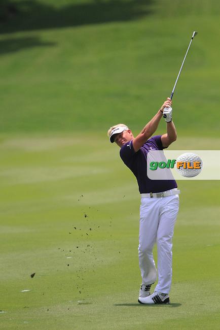 Peter Hedblom (SWE) on the 9th on Day 2 of the Maybank Malaysian Open 2012 at Kuala Lumpur Golf and Country Club, Kuala Lumpur, Malaysia...(Photo Jenny Matthews/www.golffile.ie)
