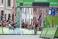 Jasper Stuyven (BEL/Trek Segafredo) winning the final stage in Geraardsbergen<br /> <br /> Binckbank Tour 2017 (UCI World Tour)<br /> Stage 7: Essen (BE) > Geraardsbergen (BE) 191km
