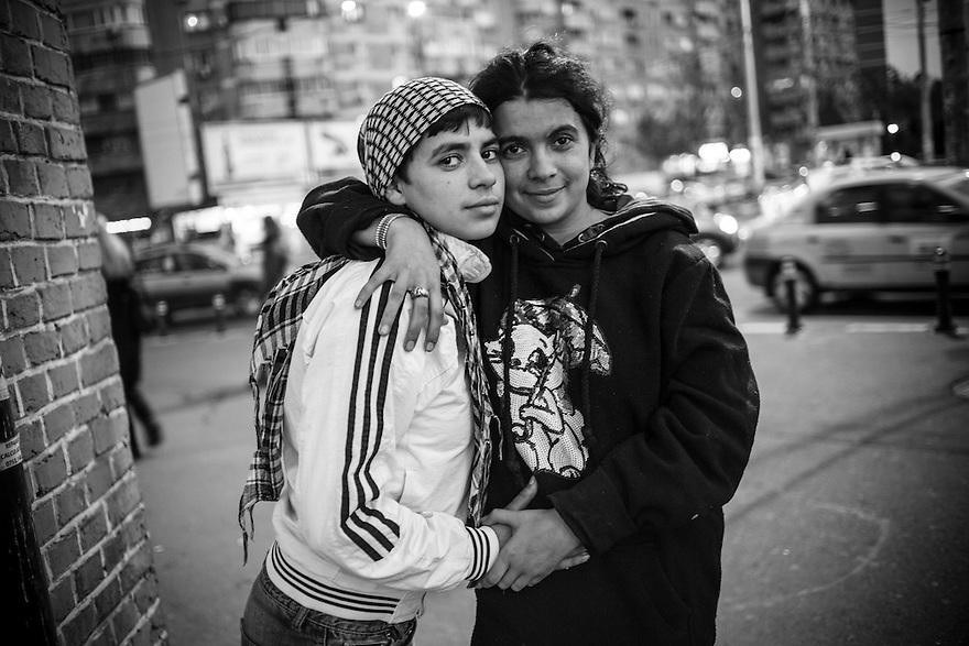 Cristina and Carina, homeless in Bucharest.