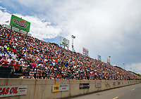 Jul 23, 2017; Morrison, CO, USA; NHRA fans in the crowd fill the grandstands during the Mile High Nationals at Bandimere Speedway. Mandatory Credit: Mark J. Rebilas-USA TODAY Sports