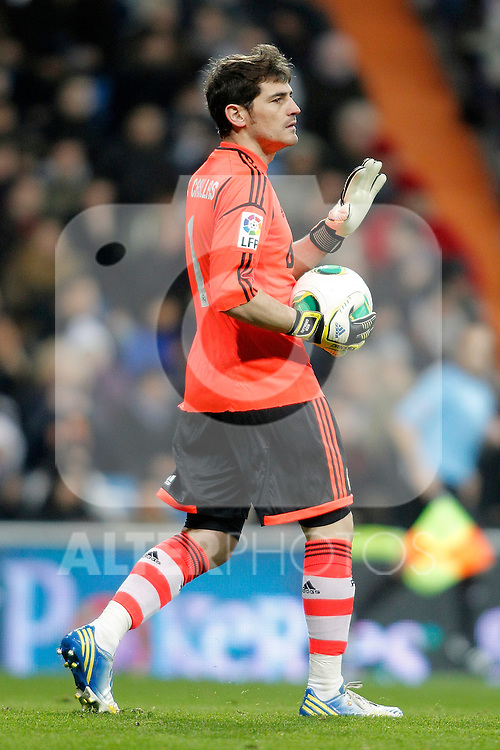 Real Madrid's Iker Casillas during King's Cup match. January 15, 2013. (ALTERPHOTOS/Alvaro Hernandez)