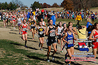 Jackson's Chelsea Drum battles the sun and competitive field in the Class 4 race, on her way to a 50th place finish in 20:04.
