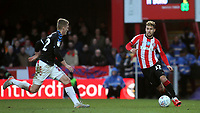 Emiliano Marcondes of Brentford in action during Brentford vs Middlesbrough, Sky Bet EFL Championship Football at Griffin Park on 8th February 2020