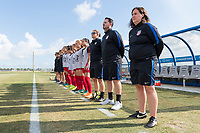 Bradenton, FL - Sunday, June 12, 2018: USA prior to a U-17 Women's Championship Finals match between USA and Mexico at IMG Academy.  USA defeated Mexico 3-2 to win the championship.