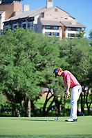 Wesley McClain (USA) watches his putt on 10 during round 4 of the Valero Texas Open, AT&amp;T Oaks Course, TPC San Antonio, San Antonio, Texas, USA. 4/23/2017.<br /> Picture: Golffile | Ken Murray<br /> <br /> <br /> All photo usage must carry mandatory copyright credit (&copy; Golffile | Ken Murray)