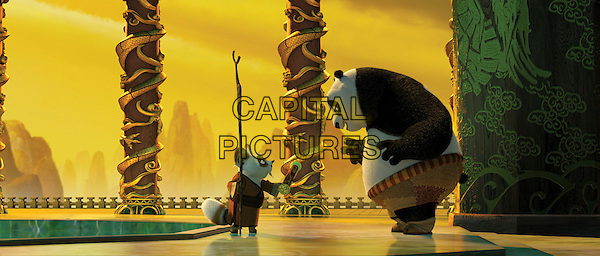 SHIFU (voiced by Dustin Hoffman) & PO (voiced by Jack Black).in Kung Fu Panda.*Filmstill - Editorial Use Only*.CAP/PLF.Supplied by Capital Pictures.