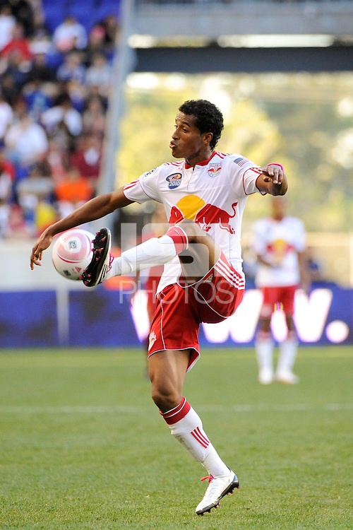Roy Miller (7) of the New York Red Bulls. The New York Red Bulls and Real Salt Lake played to a 0-0 tie during a Major League Soccer (MLS) match at Red Bull Arena in Harrison, NJ, on October 09, 2010.