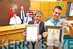 Patrick O'Brien (Trainer) and Brian Wall (Boxer) pictured with family and friends after a civic reception in Kerry County Council on Monday afternoon. Brian won a silver medlal at the European Junior Boxing Championships in Bulgaria.