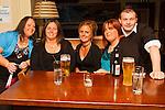 Ann Rooney, Sandra Rooney, Alison Sullivan, Dacid Corr and Trisha Connor in Barroco..Picture: Shane Maguire / www.newsfile.ie.